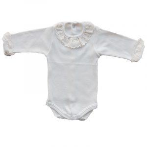 Body Bebe Batista Blanco 12 meses