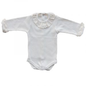 Body Bebe Batista Blanco 6 meses