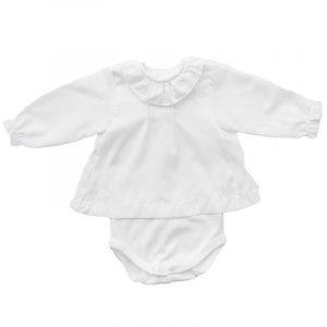 Body Camisola  Voile Blanco 24 meses