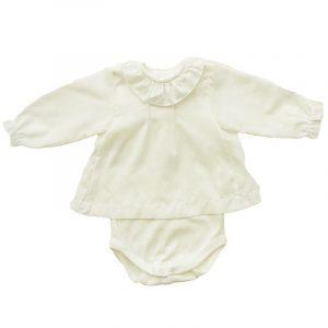 Body Camisola  Voile Crudo 6 meses