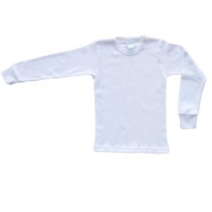 Camiseta Manga Felpa Blanco 10  años