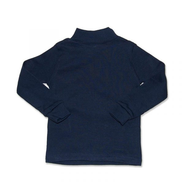 Camiseta Manga Larga Semicisne Azul Marino 10  años