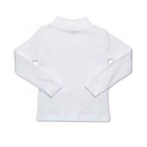 Camiseta Manga Larga Semicisne Blanco 8 años