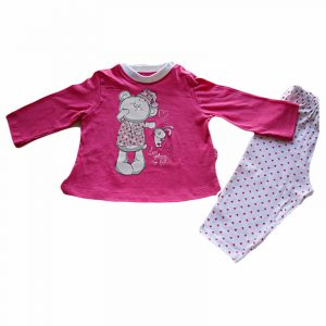 Pijama Love Going to Bed Fucsia 12 meses